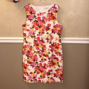 Dressbarn floral jacquard sheath dress